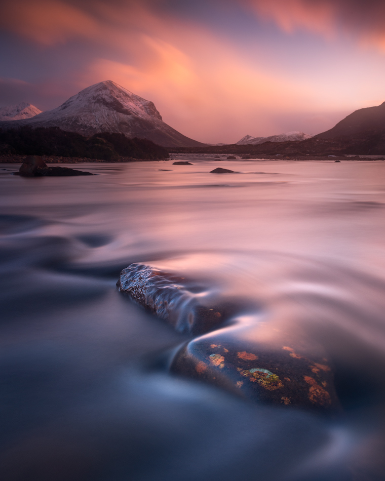 Marsco, Isle of Skye, Sligachan, Scotland, Winter, Sunset, Alister Benn, Landscape Photography,