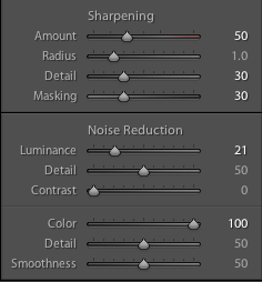 Lightroom Sharpening tool