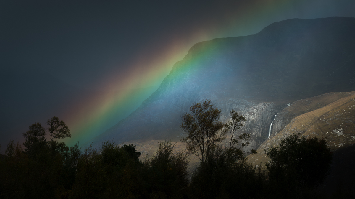 Scotland, Rain, Rainbow,Torridon, Autumn,Landscape