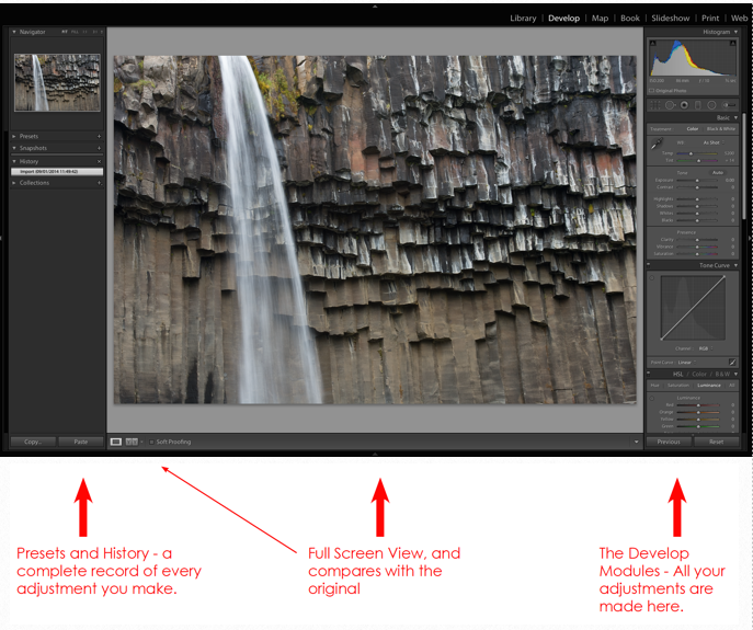 Develop Lightroom